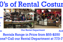 Tons of Rental Costumes Available