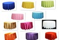 colorful table cloth rental