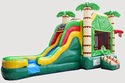 Palm Tree Bounce House with Slide Rental