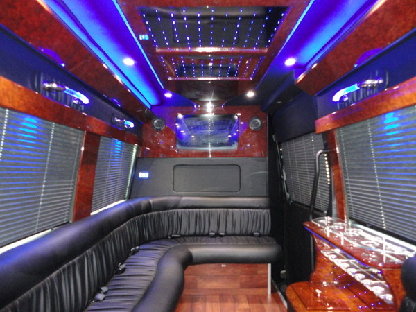 Mercedes Sprinter Limo Inside